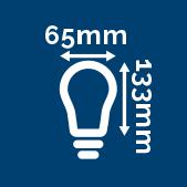 Indique les dimensions de la lampe