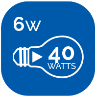 Indique le nombre d'équivalence en watt par rapport à une ampoule incandescente