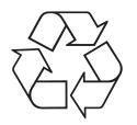 Indique que l'emballage de la lampe est recyclable